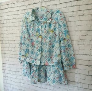 [VINTAGE] 70's authentic girls pajama 2 piece set
